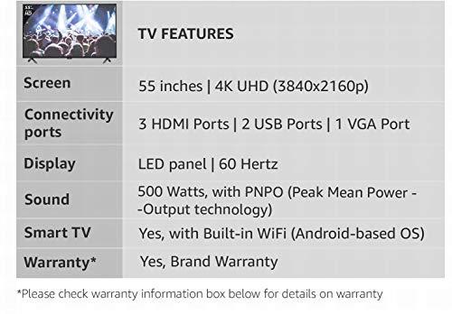 Onida 138 cm (55 Inches) 4K UHD LED Smart TV 55UIR (Black) 3