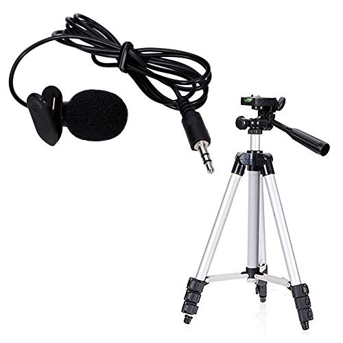 SPOY Microphone with Mini Hands-Free Clip on Mic for Camera Recorders Compatible with All Smartphones (Multicolour)