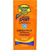 Banana Boat Sport Sunscreen, SPF 30 Protection Lotion, Travel Packets 12 Packs