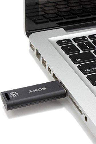 Sony Microvault 32GB USB Drive (Black) 8