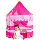 Thrilled4You Play Tent For Kids- Vibrant Pink Girls' Fairy House- Deluxe, Sturdy, Water Resistant Material- Excellent For Indoor & Outdoor Use- Instant Set-Up + Easy Storage In Carry Bag- Amazing Gift