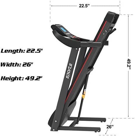 """uslion Folding Treadmill, Smart Motorized Treadmill with Manual Incline and Air Spring & MP3, Exercise Running Machine with 5"""" LCD Display for Home Use 4"""