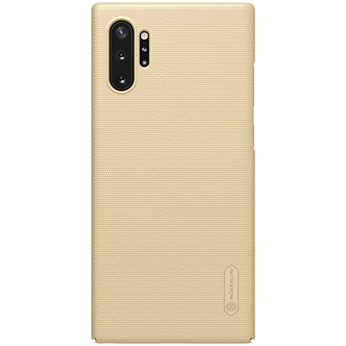 """Nillkin Case for Samsung Galaxy Note 10 Plus + (6.8"""" Inch) / Samsung Galaxy Note 10 Plus 5G Super Frosted Hard Back Cover PC Gold Color 3"""