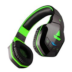 boAt Rockerz 510 Bluetooth Headphone with Thumping Bass, Up to 10H Playtime, Dual Connectivity Modes, Easy Access Controls and Ergonomic Design (Viper Green)