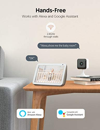 Teckin Cam 1080P FHD Indoor Wi-Fi Smart Home Security Camera with Night Vision, 2-Way Audio, Motion Detection, Omnidirection for Baby/Pet/Nanny/Elderly, Works with Alexa & Google Home, 2 Packs 18