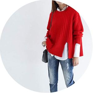 world-palm Autumn New Thick Cashmere Sweater Long Sleeve Fashion Sweater Soft Warm Knitted Sweater
