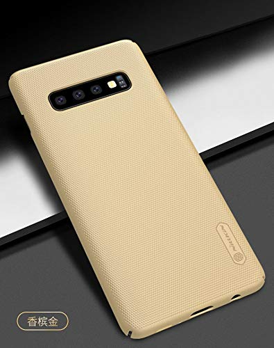 """417A0%2BLfUzL - Nillkin Case for Samsung Galaxy S10 Plus (6.4"""" Inch) Super Frosted Hard Back Cover Hard PC Gold Color"""