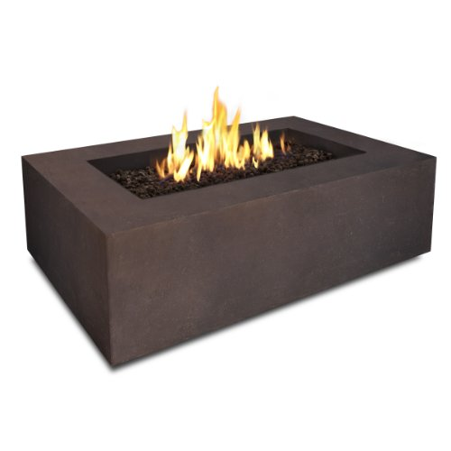 T9650LP Rectangle Propane Fire Table, Kodiak Brown