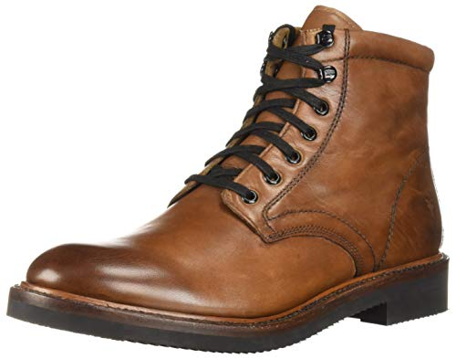 FRYE Men's Gordon LACE UP Combat Boot, cognac, 9 M M US