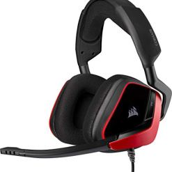 Corsair VOID ELITE Surround Gaming Headset (7.1 Surround Sound, Optimised Omnidirection Microphone with PC, PS4, Xbox One, Switch and Mobile Compatibility) Red
