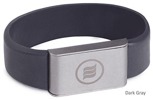 memonizerBODY EMF Protection Wrist Band from Memon of Germany (Large, Dark Gray)