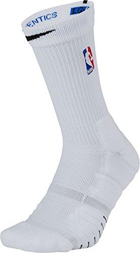 NIKE Elite Quick NBA Basketball Crew Socks (White, Large)