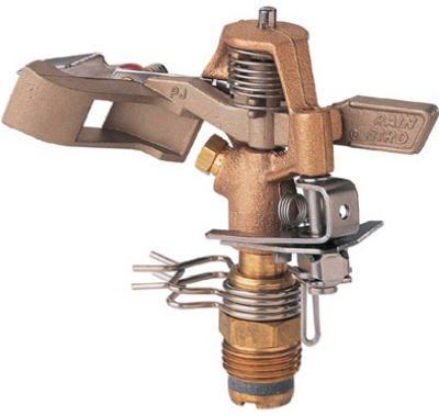 Rainbird National Sls 25PJDAC Impulse Sprinkler, Brass, 50-Ft.