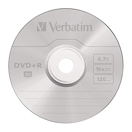 417QGIVI7DL - Verbatim DVD-R Discs 25 Spindle Pack, Bulk Pack 25 x DVD-R Blank Discs with AZO Protection Against UV, 16x Speed, 4.7 GB
