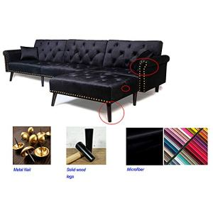Astonishing Beiz Trading Sectional Modern Contemporary Sofa Corner Sofa Living Room Couch Sofa With Reversible Chaise Lounge Soft Dutch Velvet For Top Comfort Uwap Interior Chair Design Uwaporg