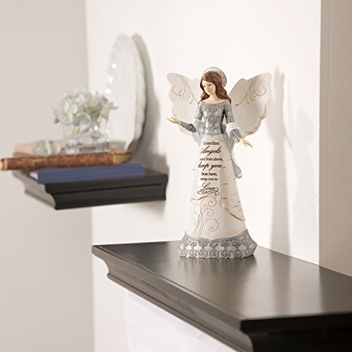 Elements-82310-Guardian-Angel-Collectible-Figurine-Angel-with-Halo-9-Inch