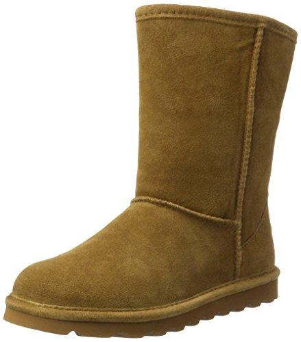 BEARPAW Women's ELLE Short Fashion Boot, Hickory ii, 9 M US