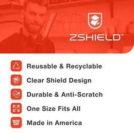 ZShield-Wrap-Reusable-Face-Shield-wFull-Face-Clear-Lens-Lightweight-Neck-Mount-Design-Ear-to-Ear-Coverage-Made-in-USA-5-Pack