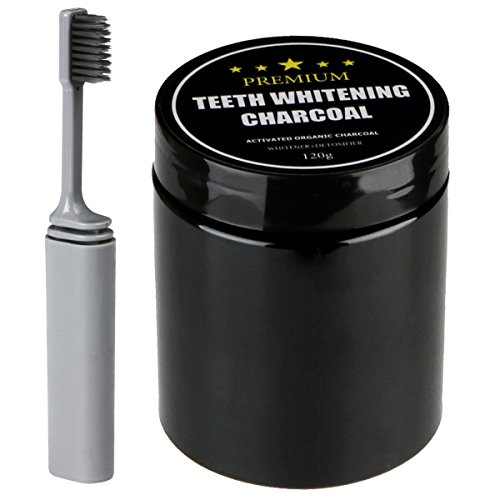 Teeth Whitening Charcoal, 4.3 Oz Activated Coconut Charcoal Teeth whitening Powder