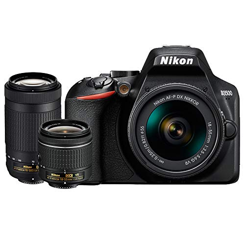 Nikon D3500 DSLR Camera w/AF-P DX 18-55mm & 70-300mm Zoom