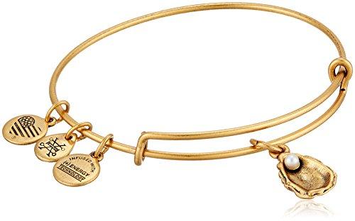 Alex and Ani Oyster II Rafaelian Gold Bangle Bracelet