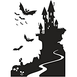 Charberry Castle Halloween Wall Sticker Window Home Decoration Decal Decor
