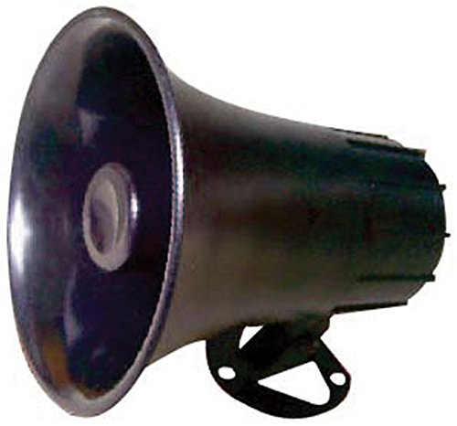 "Outdoor Trumpet Car Horn Speaker - 5"" Pa Horn Speaker w/ 8 Ohms Impedance, 15 Watt Power, Adjustable Bracket, 10' Pre-Wired Cord, 3.5mm Mono - Pa Speaker for Cb Radio Car Siren System-  Pyle PSP8"