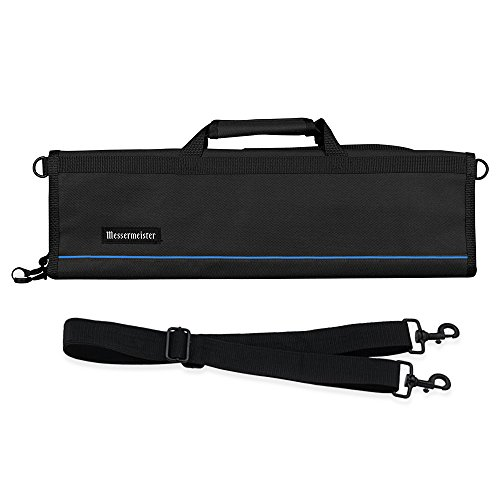 Messermeister 8-Pocket Heavy Duty Nylon Padded Knife Roll, Luggage...