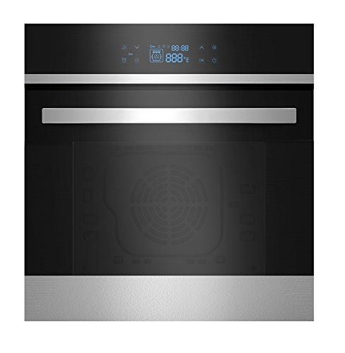 Empava 24' Black Tempered Glass LED Digital Touch Controls Electric Built-In Single Wall Oven EMPV-24WOB21