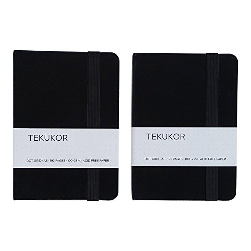 Tekukor A6 Notebook Hardcover Dot Grid – 2 pack