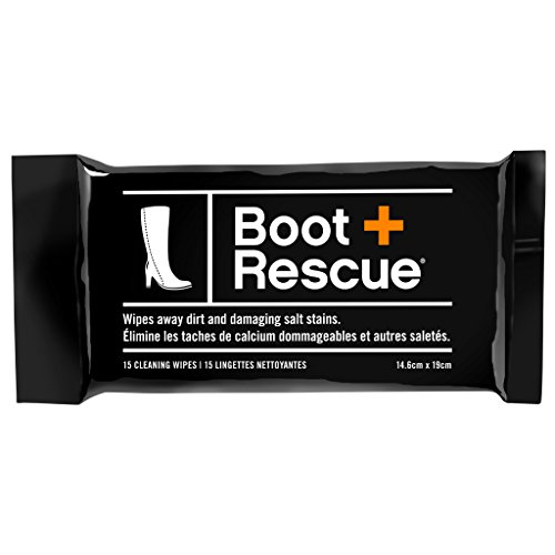 BootRescue All Natural Cleaning Wipes for Leather & Suede Shoes & Boots - Resealable Pack of 15