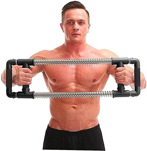 GoFitness Push Down Bar Machine - Chest Expander at Home Workout Equipment - Portable Spring Resistance Exercise Gym Kit for Home, Travel or Outdoors 3
