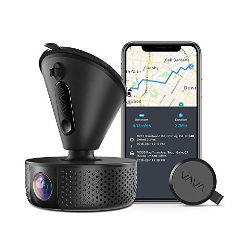 Dash Cam, VAVA 1920x1080P@60fps Wi-Fi Car Dash Camera with GPS, 360° View Dashboard Camera Recorder with Sony Night Vision Sensor, Parking Mode, G-Sensor, Support 128GB max