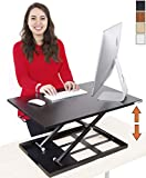 Stand Steady Standing Desk X-Elite Standing Desk | X-Elite Pro Version, Instantly Convert Any Desk into a Sit/Stand up Desk, Height-Adjustable, Fully Assembled Desk Converter (Black) (28 inch)