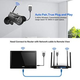 Wireless-WiFi-Security-Camera-System-4Pcs-UNIOJO-1080P-NVR-with-101-inches-LCD-Touch-Screen-Monitor-4-HD-20-Megapixel-Night-Vision-IP66-Waterproof-IP-Security-Surveillance-Camera