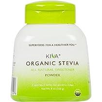 Kiva Organic Stevia Powder (Natural Sweetener) - Non-GMO, Vegan, Zero-Calories- (Sugar Free, NO AFTERTASTE and GROWN IN USA), 8-Ounce --LIMITED TIME SALE PRICE!