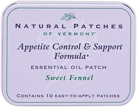 Natural Patches of Vermont Appetite Suppressant Essential Oil Body Patches, Sweet Fennel, 10-Count Tin 1