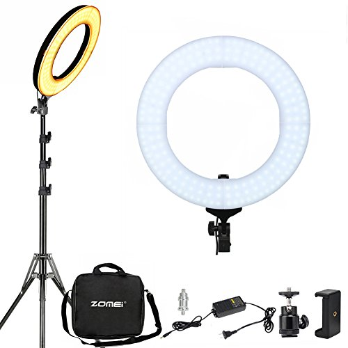 LED Ring Light With Stand ZOMEI 14 Inch 41W Dimmable Photography Lights Youtube lighting Makeup Lighting Professional Studio Photo Shoot Light For Camera Smartphone iPad, etc (Electrodeless)