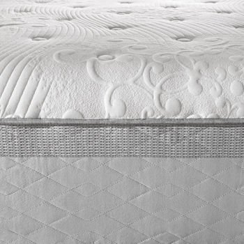 "Novaform 14"" Comfort Grande King Memory Foam Mattress, 3"" Gel Memory Foam, 3"" Air Channel Foam, 8"" Base Layer Foam"