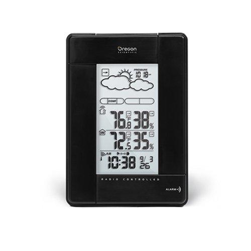 Oregon Scientific BAR388HGA-BK Alarm, Wake Digital LED Clock-Sunrise and Sunset Simulation with 6 Color Light, Black