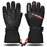 Yobenki -40℉ Ski Gloves Waterproof Winter Gloves Snowboarding Gloves 3M Thinsulate