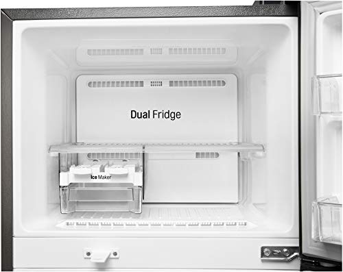 4182VA87H%2BL LG 284 L 3 Star Inverter Frost-Free Double Door Refrigerator (GL-T302RPZN, Shiny Steel)