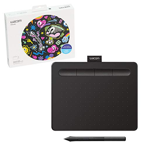 Wacom Intuos Graphics Drawing Tablet with 3 Bonus Software Included, 7.9'x 6.3', Black (CTL4100)