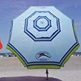 Tommy Bahama 2015 Sand Anchor 7 feet Beach Umbrella with Tilt and Telescoping Pole- light blue