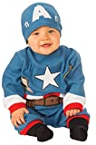 Rubie's Baby's Marvel Captain America Romper, Newborn (0-6 Months)
