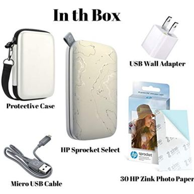 HP-Sprocket-Select-Pocket-Printer-Instant-Wireless-Photo-Printer-for-Android-and-iOS-Includes-23-x34-Zink-Photo-Paper-Sticker-30-Sheets-Protective-case-and-USB-Charging-Cable-with-Wall-Adapter