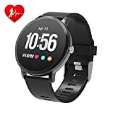 BingoFit Epic Fitness Tracker Smart Watch, Activity Tracker with Heart Rate Monitor, Waterproof Pedometer Watch with Sleep Monitor, Step Counter for Kids (A-Black)