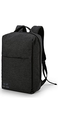 418FZC25XQL - WAABI-SAABI Polyester Grey Laptop Backpack