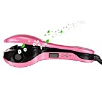 ACEVIVI Negative Ions Hair Curler Hair Care Professional LCD Automatic, Rose Red