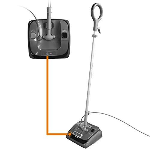 LIGHT 'N' EASY Steam Mop Pre-Vacuum Assist 2 in 1 Floor Steamer Hardwood Floor Mop S7326 Floor Celaner Hardwood,Tile,Grout,Laminate,Carpet,Multifunctional Floor Mop (Grey)